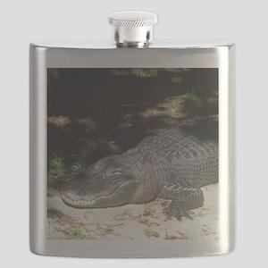 Alligator Sunbathing Flask