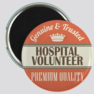 hospital volunteer vintage logo Magnet