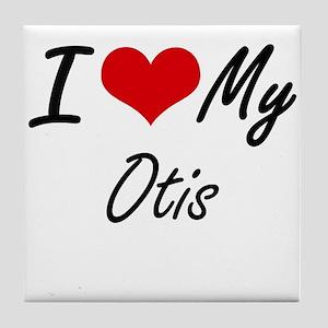 I Love My Otis Tile Coaster