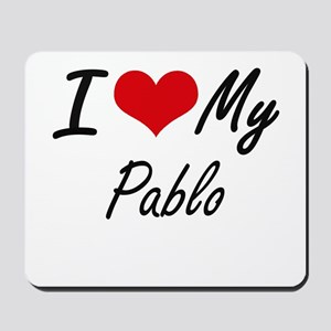 I Love My Pablo Mousepad