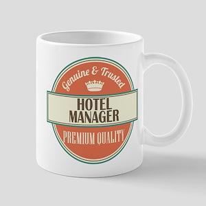 hotel manager vintage logo Mug