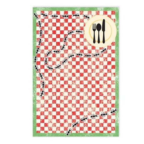 Ants and Picnic Art Postcards (Package of 8)