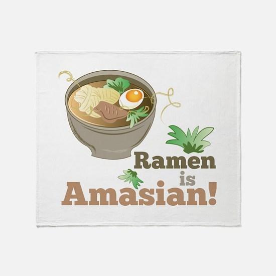 Ramen Is Amasian Throw Blanket