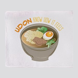 Udon Know Throw Blanket