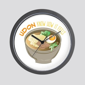 Udon Know Wall Clock