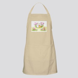 Easter Bunny, Duckling And Flowers Apron