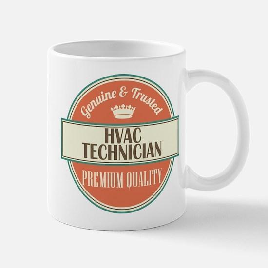 hvac technician vintage logo Mug