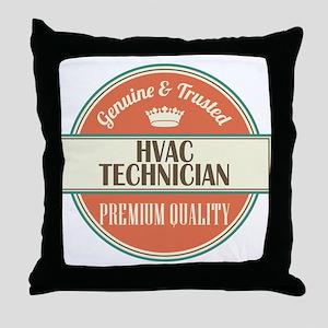hvac technician vintage logo Throw Pillow