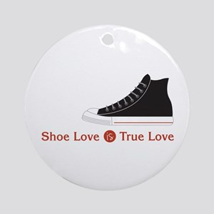 Shoe Love Round Ornament
