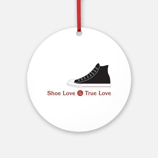 Shoe Love Round Ornament