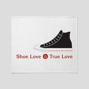 Shoe Love Throw Blanket