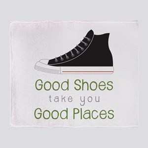 Good Shoes Throw Blanket
