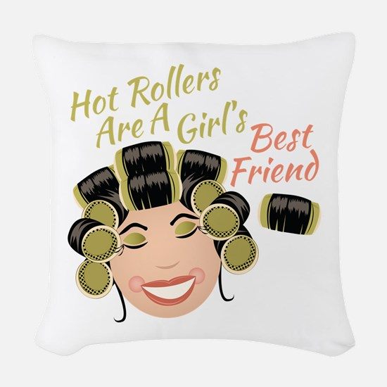 Hot Rollers Woven Throw Pillow