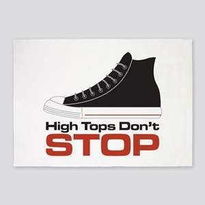 High Tops Dont Stop 5'x7'Area Rug