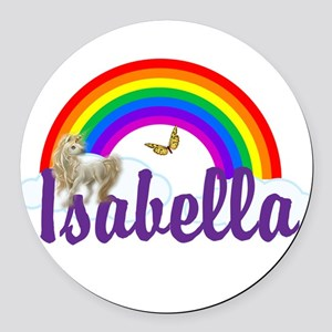 Unicorn Personalize Round Car Magnet