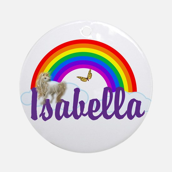 Unicorn Personalize Round Ornament