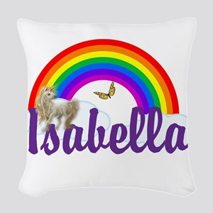 Unicorn Personalize Woven Throw Pillow