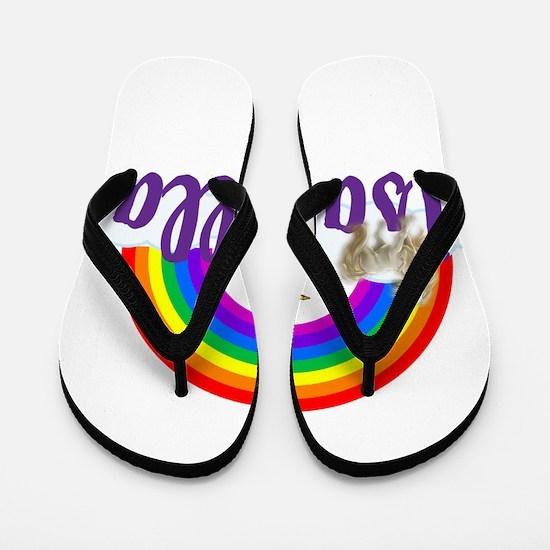 Unicorn Personalize Flip Flops