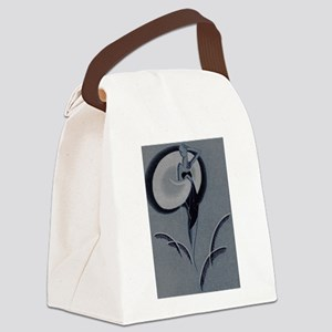 Art Deco Lady Canvas Lunch Bag