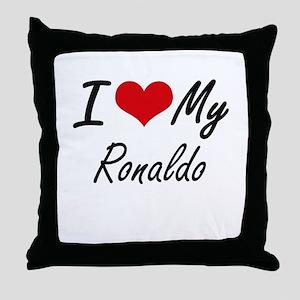 I Love My Ronaldo Throw Pillow