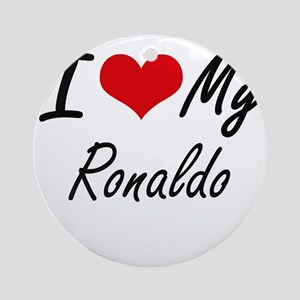 I Love My Ronaldo Round Ornament