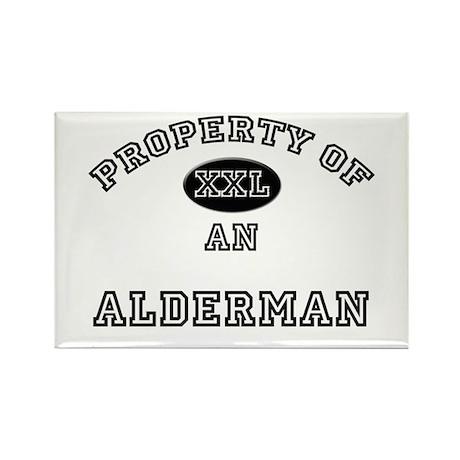 Property of an Alderman Rectangle Magnet (10 pack)