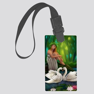 Muse and Swans Large Luggage Tag