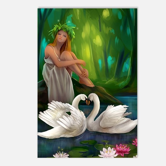 Muse and Swans Postcards (Package of 8)