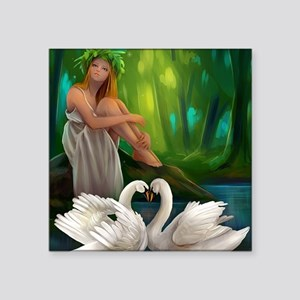 """Muse and Swans Square Sticker 3"""" x 3"""""""