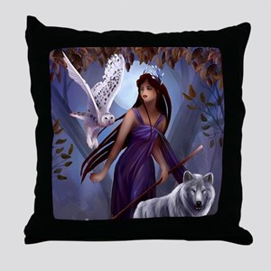 Muse and Wildlife Throw Pillow