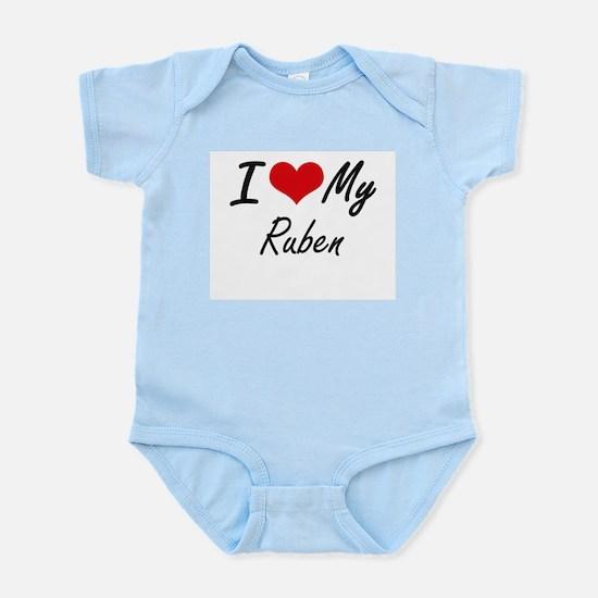 I Love My Ruben Body Suit