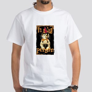 Cat Person White T-Shirt