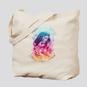 Most Pure Heart of Mary (vertical) Tote Bag