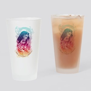Most Pure Heart of Mary (vertical) Drinking Glass