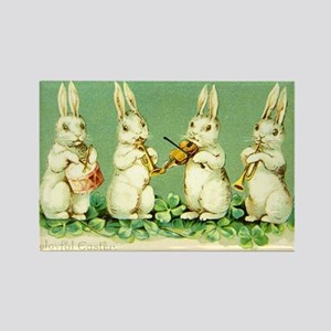 Vintage Musical Easter Bunnies Magnets
