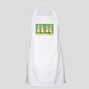 Vintage Musical Easter Bunnies Apron