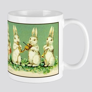 Vintage Musical Easter Bunnies Mugs