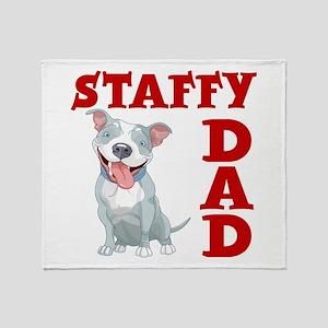 STAFFY DAD Throw Blanket