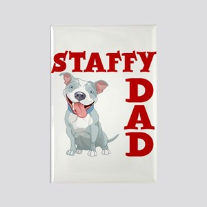 STAFFY DAD Rectangle Magnet