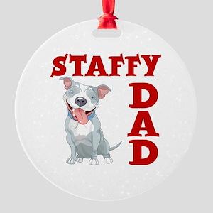 STAFFY DAD Round Ornament