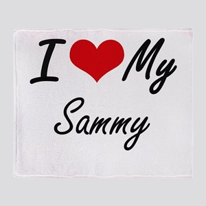 I Love My Sammy Throw Blanket