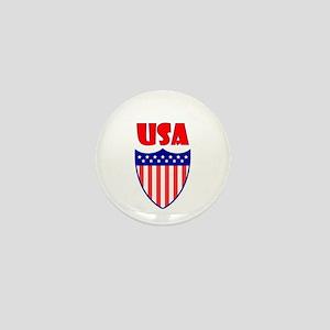 USA Crest Mini Button