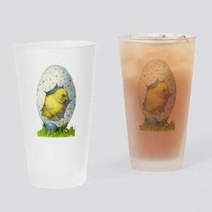 Vintage Easter Chick And Easter Egg Drinking Glass