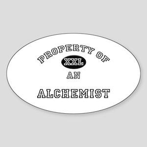 Property of an Alchemist Oval Sticker