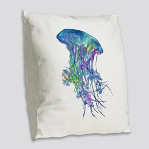 TENTACLES Burlap Throw Pillow
