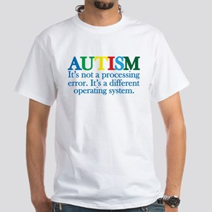 Autism processing error White T-Shirt