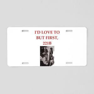 221b joke Aluminum License Plate