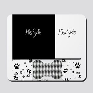 His Side Her Side Pets Mousepad