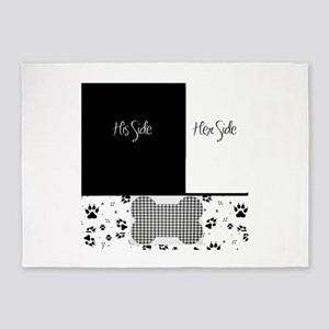 His Side Her Side Pets 5'x7'Area Rug