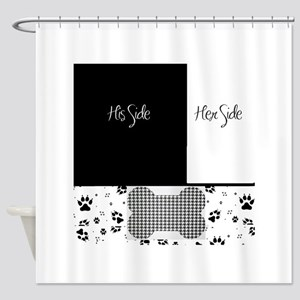 His Side Her Side Pets Shower Curtain